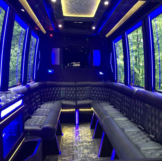 Party buses charter bus mini coach bus party bus for Mercedes benz sprinter rental nyc